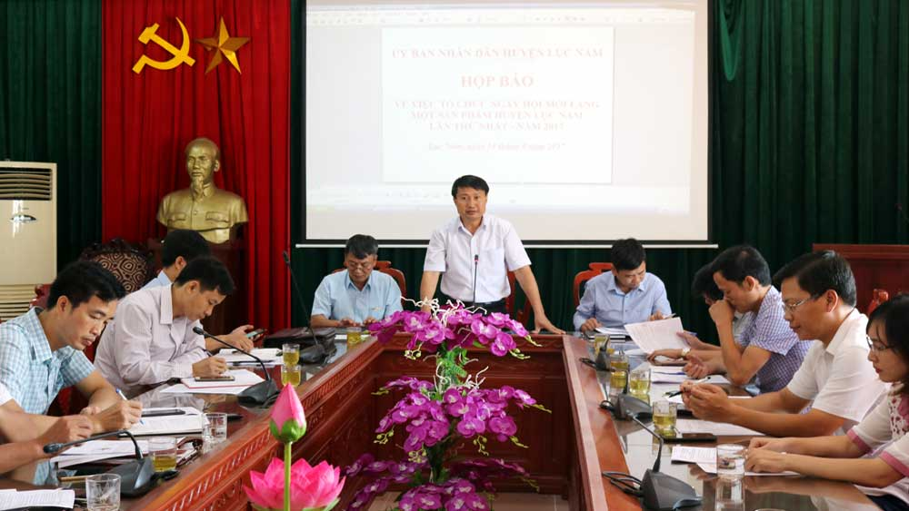 Lục Nam: Ngày hội mỗi làng một sản phẩm diễn ra từ ngày 22 đến 24-9