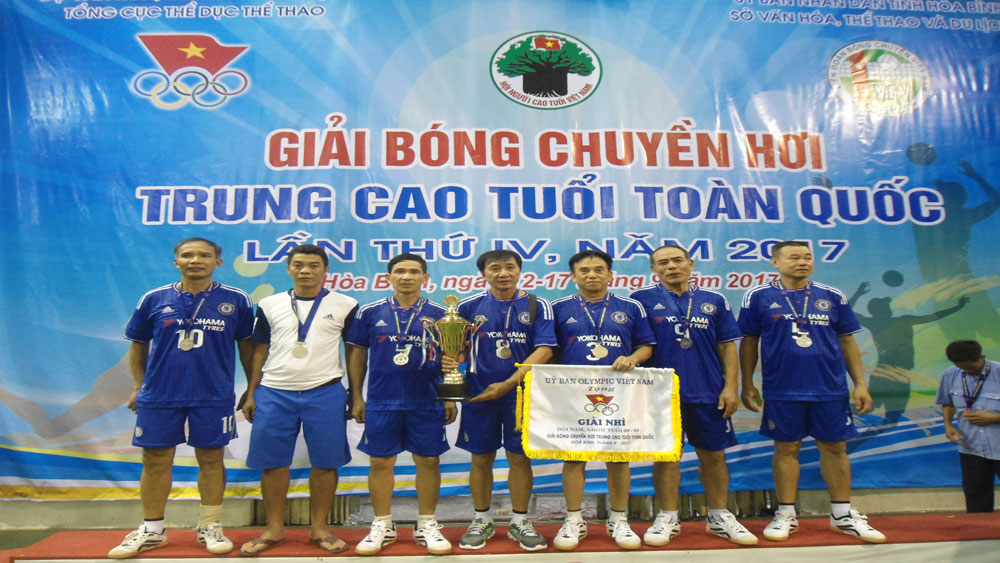 Bac Giang wins silver at national soft volleyball champs