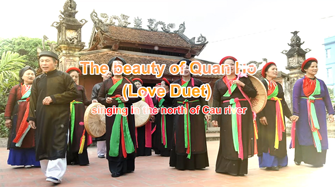 The beauty of Quan Ho (Love Duet) singing in the north of Cau river