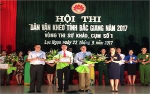 """Hội thi""""Dân vận khéo"""" vòng sơ khảo cụm số 1: Huyện Lục Ngạn và Yên Thế vào vòng chung khảo"""