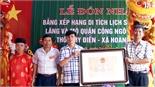 Đón nhận Bằng di tích lịch sử cấp tỉnh lăng Quận công Ngô Đạt Dụng