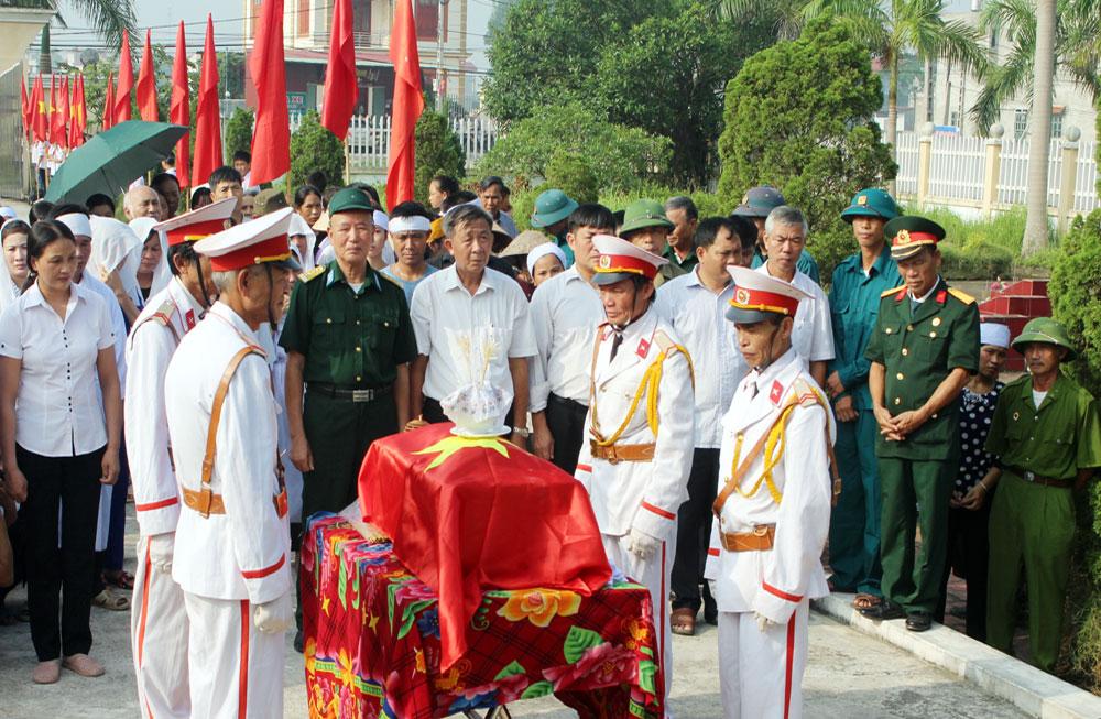 Xã Đoan Bái tổ chức lễ đón nhận hài cốt liệt sĩ