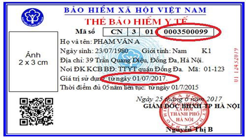 Bac Giang issues new health insurance code numbers to local holders
