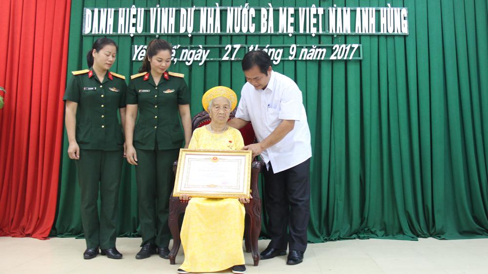 Phong tặng, danh hiệu, Bà mẹ Việt Nam Anh hùng