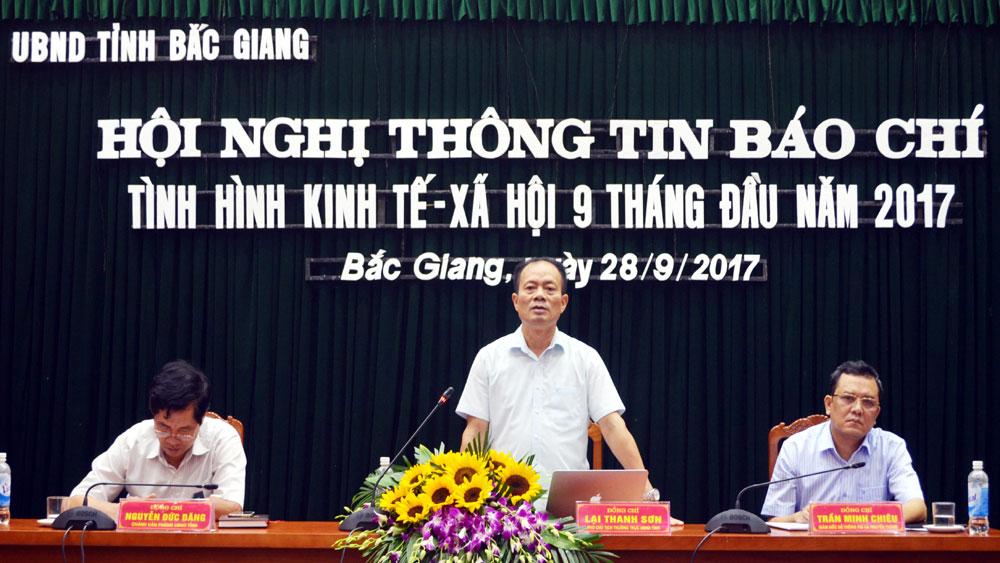 UBND tỉnh tổ chức hội nghị thông tin báo chí tình hình KT-XH 9 tháng năm 2017