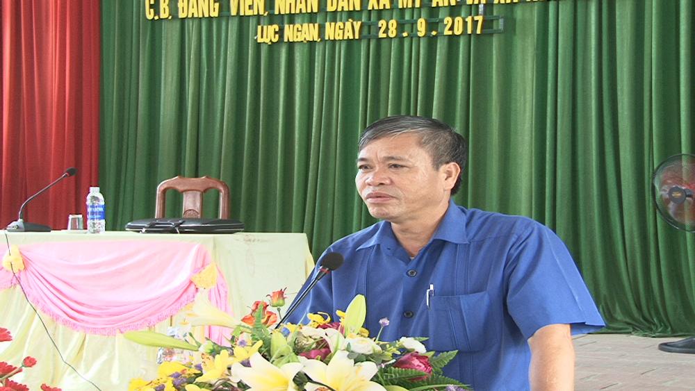 Bí thư Huyện ủy Lục Ngạn đối thoại nhân dân xã Mỹ An và Nam Dương