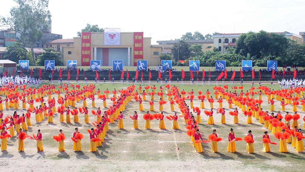 Lễ khai mạc Đại hội TDTT toàn tỉnh lần thứ VIII năm 2017: Khắc họa bản sắc vùng đất, con người Bắc Giang