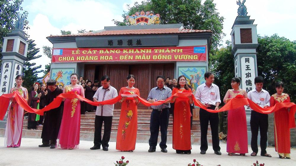 Yên Thế khánh thành chùa Hoàng Hoa và đền Mẫu xã Đồng Vương