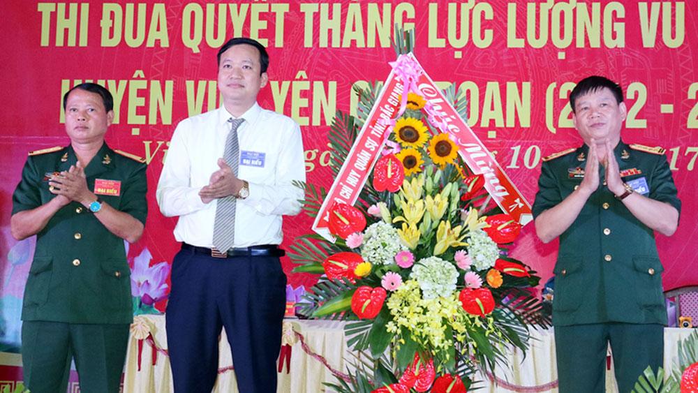 Đại hội Thi đua Quyết thắng LLVT huyện Việt Yên