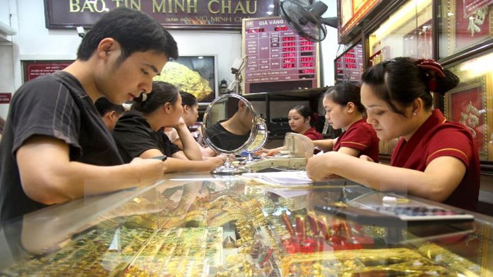 Giá vàng trong nước tiếp tục giảm gần 80 nghìn đồng mỗi lượng