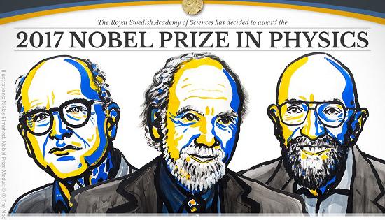 Giải Nobel Vật lý 2017 vinh danh công trình dò tìm sóng hấp dẫn
