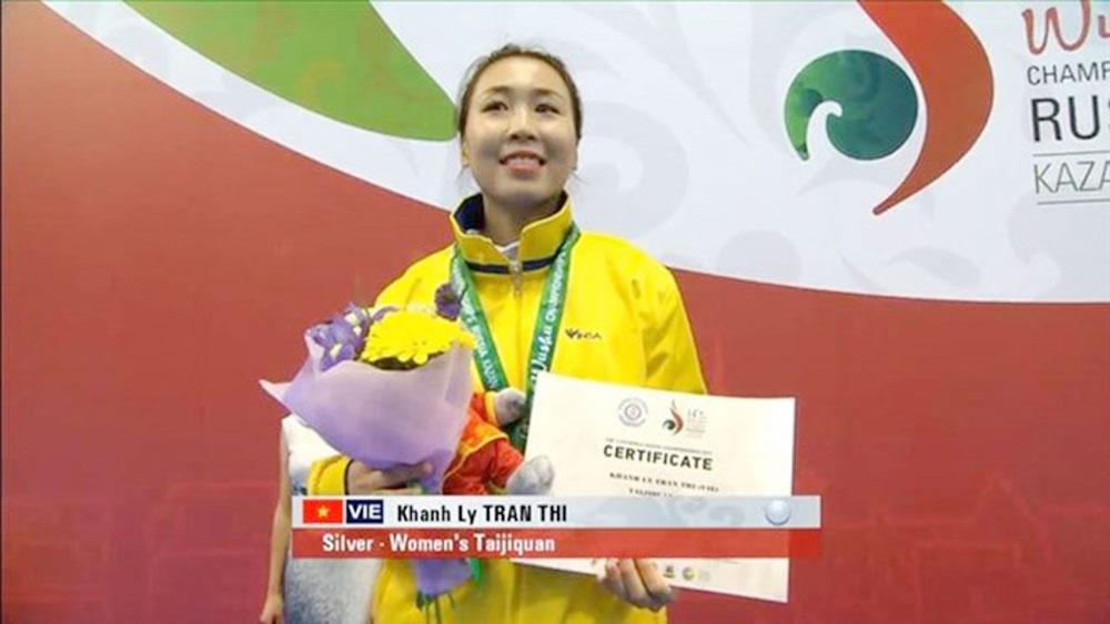 Vietnamese artist, second best,  wushu world, Tran Thi Khanh Ly, second silver medal,  World Wushu Championships, Vietnamese martial artist, Kazan tournament
