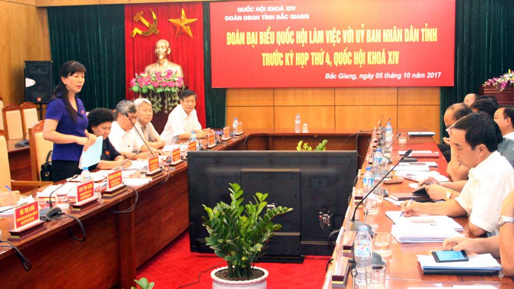 Đoàn đại biểu Quốc hội làm việc với UBND tỉnh về tình hình KT-XH những tháng đầu năm