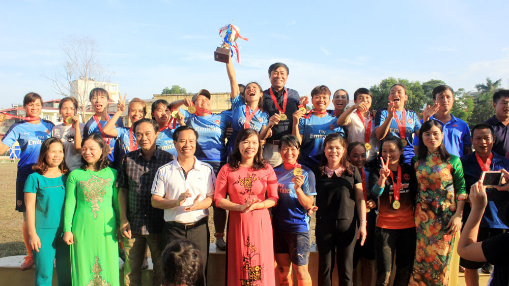 Tân Yên vô địch Giải bóng đá nữ tỉnh Bắc Giang
