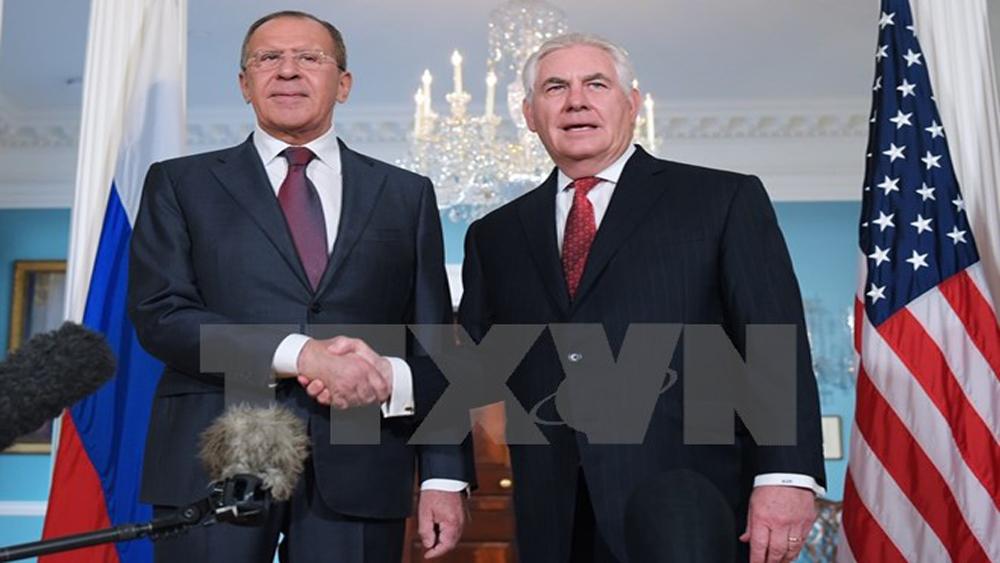 Ngoại trưởng Nga, Mỹ điện đàm về tình hình Triều Tiên và Syria