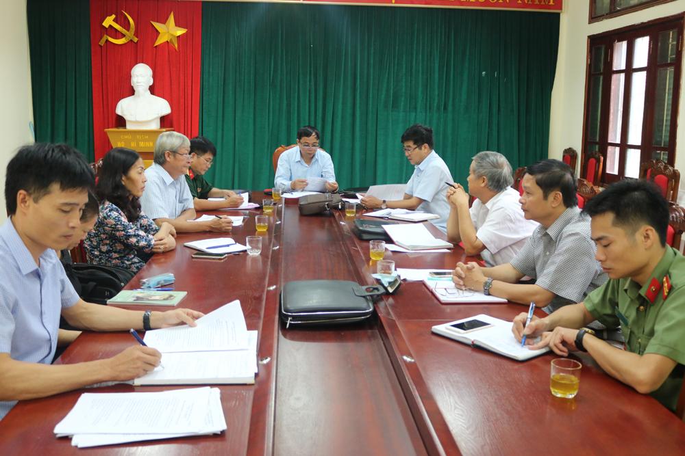 UBND huyện Lục Nam họp xét đề nghị suy tôn liệt sĩ