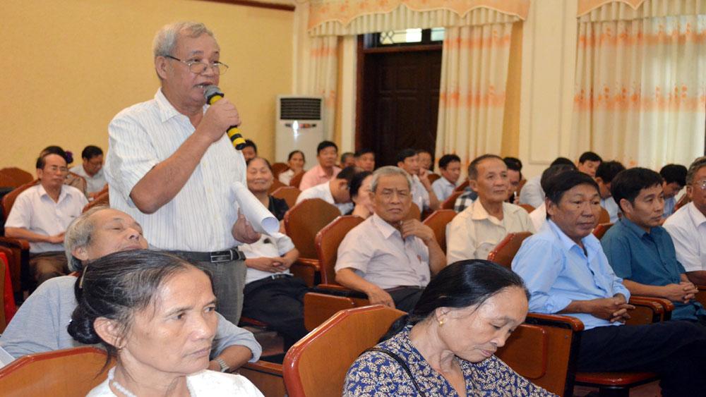 Lãnh đạo HĐND, UBND TP Bắc Giang tiếp xúc, đối thoại với người cao tuổi