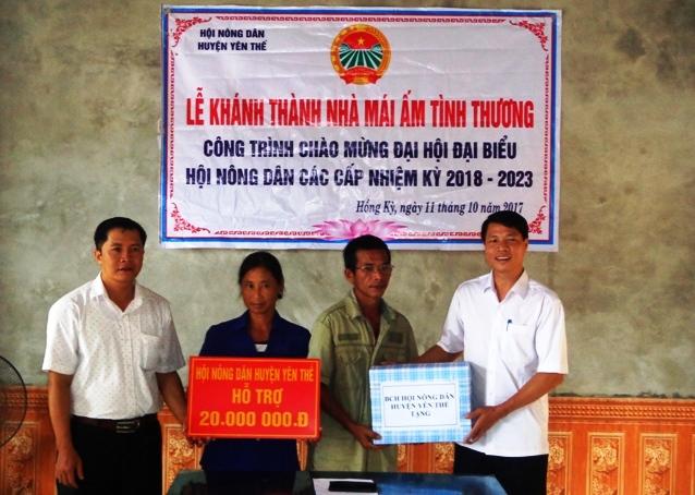 Yên Thế trao nhà mái ấm tình thương cho hội viên Hội Nông dân