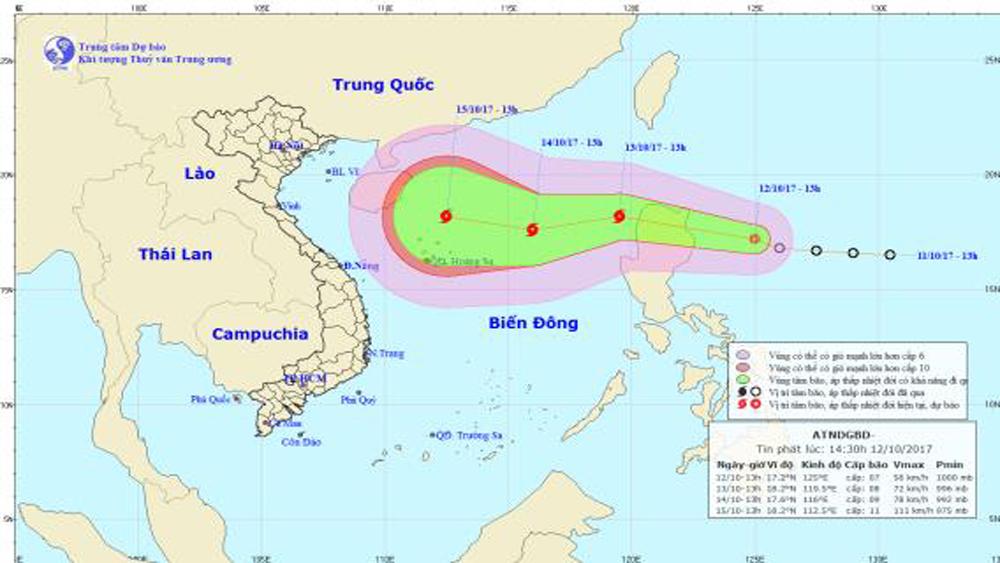 Áp thấp nhiệt đới liên tục tăng cấp và chuyển hướng phức tạp