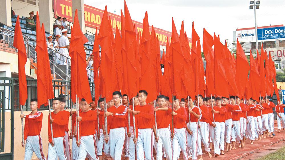 Sáng 15-10, khai mạc trọng thể Đại hội TDTT tỉnh Bắc Giang lần thứ VIII năm 2017: Đổi mới, xứng tầm sự kiện thể thao lớn nhất tỉnh