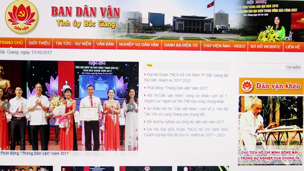 Ra mắt Trang thông tin điện tử Ban Dân vận Tỉnh ủy Bắc Giang
