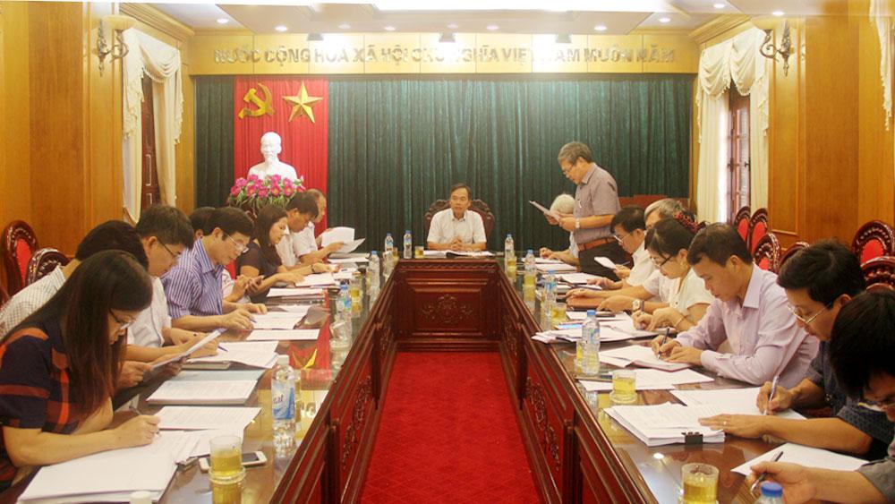 Thống nhất nội dung chương trình kỳ họp thứ 4, HĐND tỉnh Bắc Giang khóa XVIII