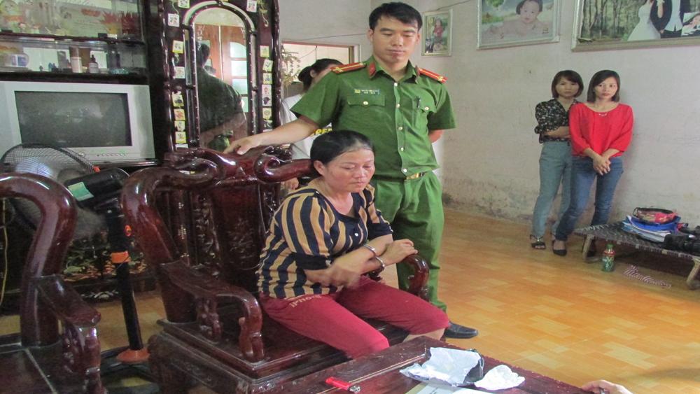 Công an huyện Lục Ngạn bắt ma túy