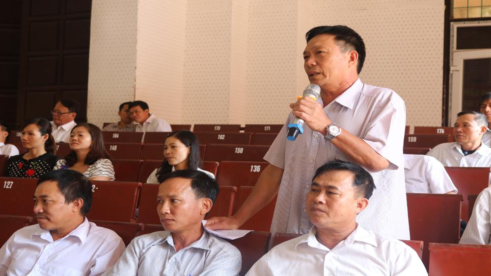 Đối thoại giữa Trưởng Ban Dân vận Tỉnh ủy với các thành viên Khối Dân vận trên địa bàn huyện Lục Nam