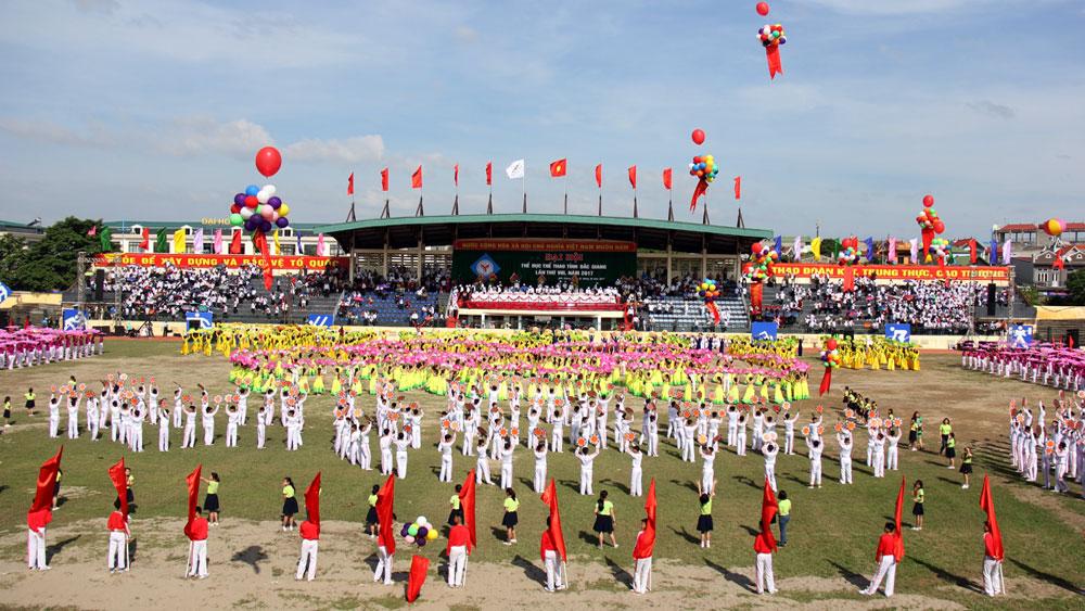 Đại hội TDTT tỉnh Bắc Giang lần thứ VIII năm 2017: Ấn tượng, đậm đà bản sắc