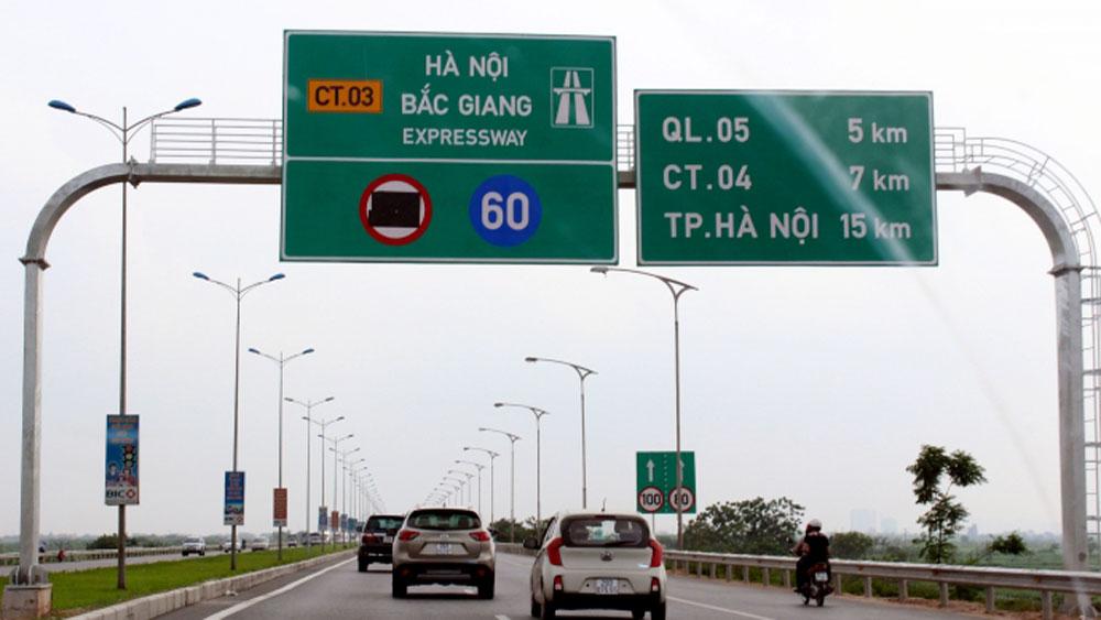 Thu phí không dừng trên đường cao tốc Hà Nội - Bắc Giang