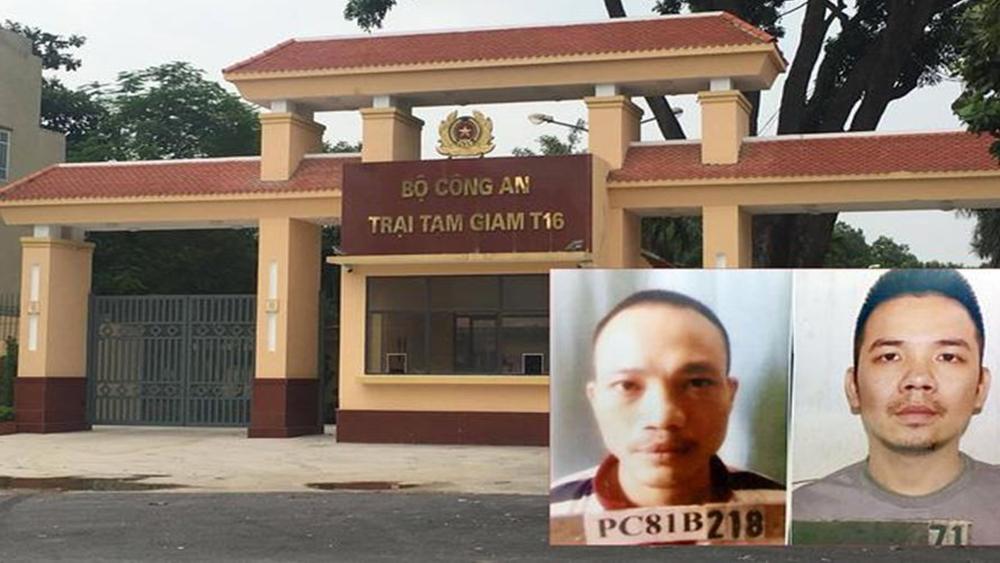 Khởi tố 3 bị can thiếu trách nhiệm để hai tử tù trốn khỏi Trại Tạm giam T16