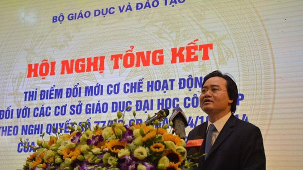 Bộ trưởng Phùng Xuân Nhạ: Tự chủ đại học còn hạn chế