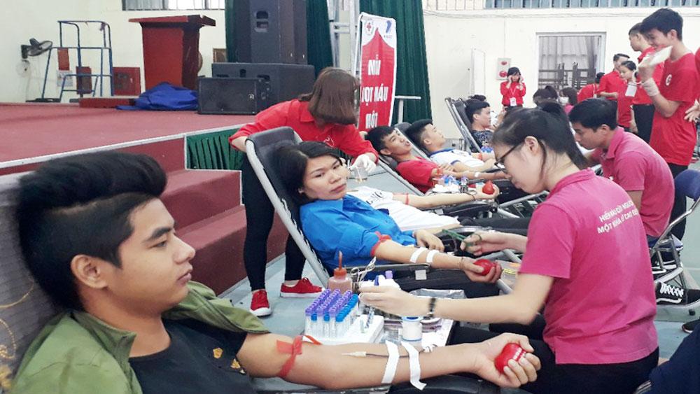 Ngày hội hiến máu Trường Cao đẳng Nghề công nghệ Việt – Hàn: Tiếp nhận 209 đơn vị máu an toàn
