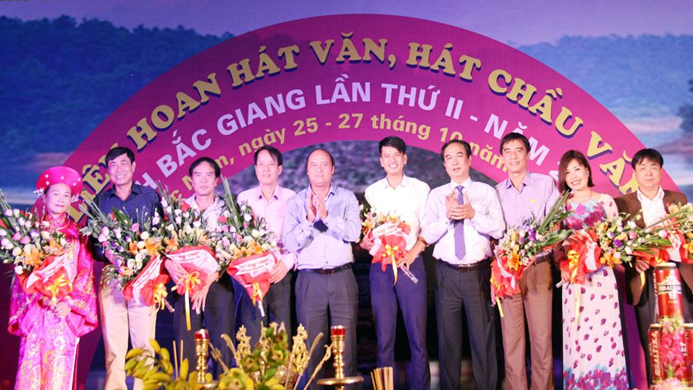 Khai mạc liên hoan hát văn, hát chầu văn tỉnh Bắc Giang lần thứ hai