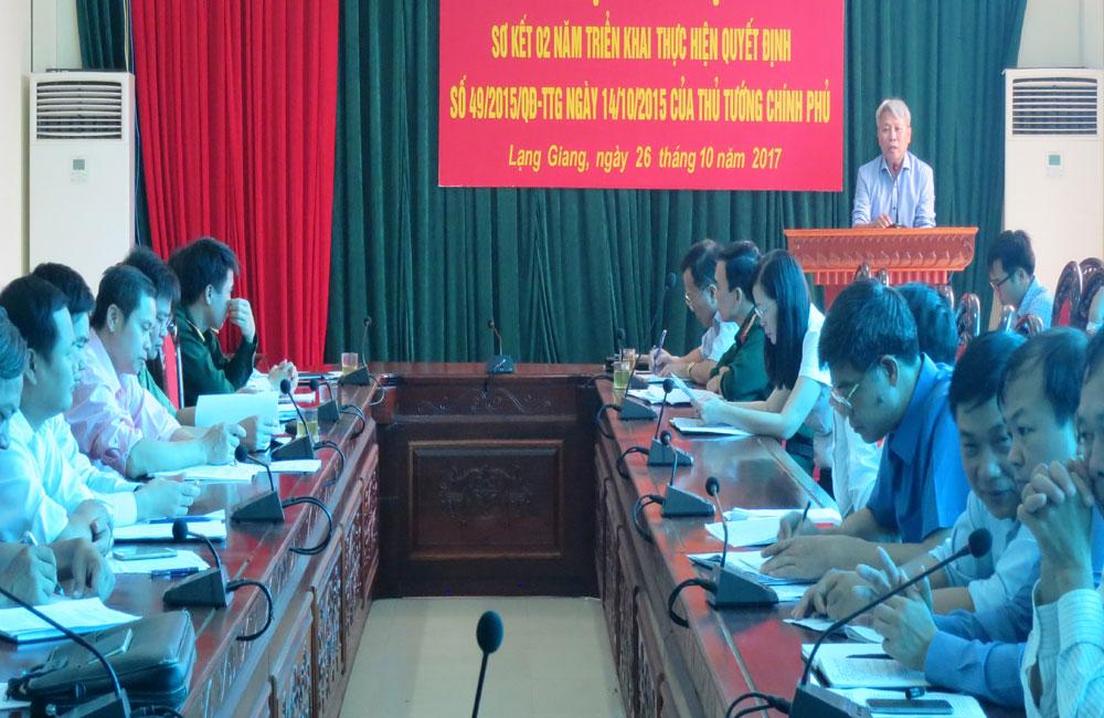 Lạng Giang: Hơn 2.250 dân công hỏa tuyến  được chi trả chế độ theo Quyết định 49