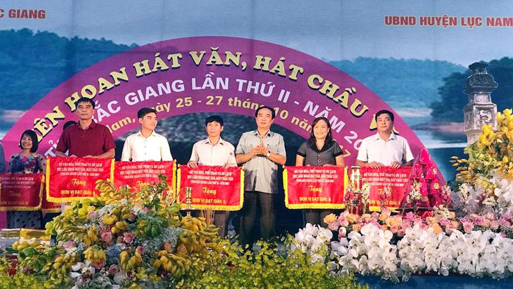 Trao 5 giải A toàn đoàn tại Liên hoan hát văn, hát chầu văn tỉnh Bắc Giang lần thứ hai