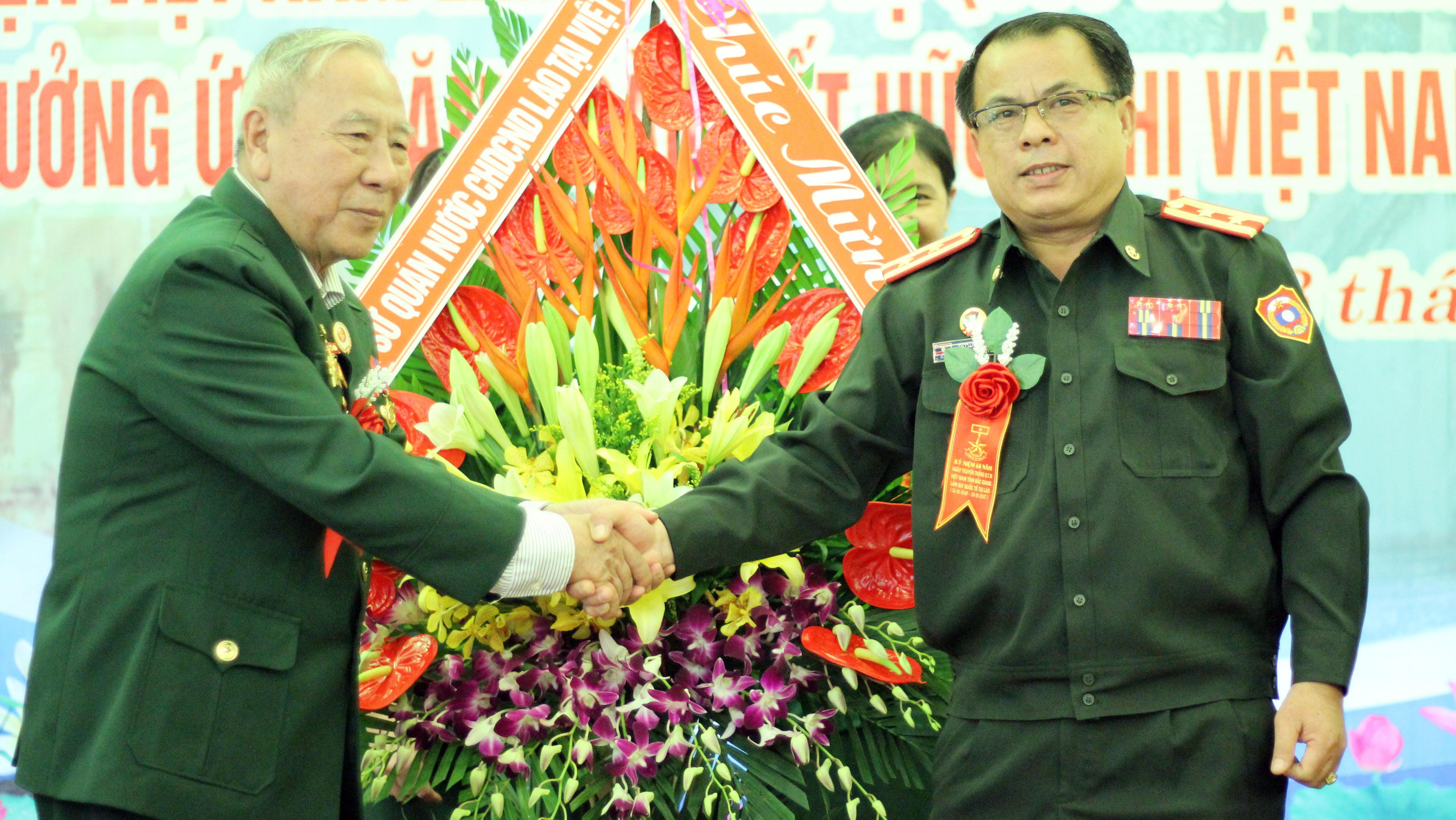 Kỷ niệm 68 năm ngày truyền thống Ban liên lạc Quân tình nguyện và chuyên gia quân sự Việt Nam tại Lào tỉnh Bắc Giang