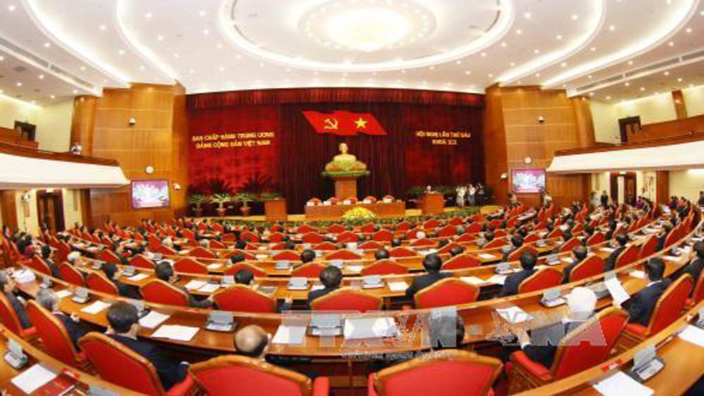 Toàn cảnh phiên bế mạc Hội nghị lần thứ 6, Ban Chấp hành Trung ương khóa XII.