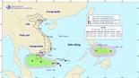 Xuất hiện áp thấp nhiệt đới kép trên Biển Đông