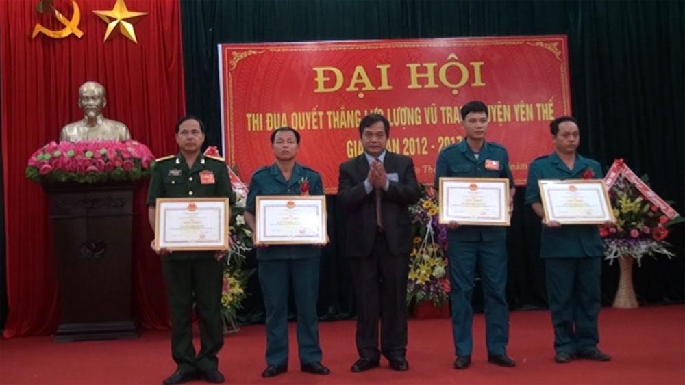 Yên Thế tổ chức Đại hội thi đua Quyết thắng lực lượng vũ trang 2012-2017