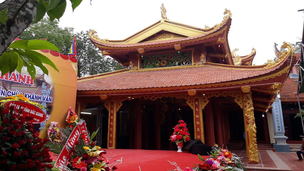 Khánh thành Cung thờ Mẫu của khu di tích lịch sử văn hóa đền chùa Khánh Vân
