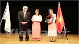 Học sinh Nhật Bản tham dự cuộc thi hùng biện bằng tiếng Việt