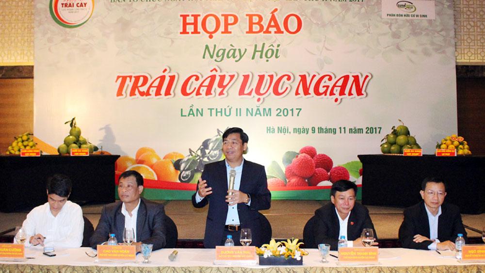 Họp báo Ngày hội Trái cây Lục Ngạn tại Hà Nội