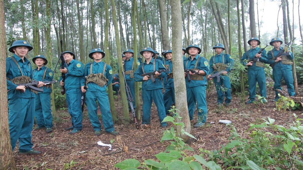 Lạng Giang tổ chức diễn tập phòng thủ thực binh cấp xã