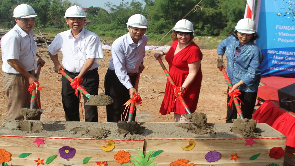 Khởi công xây dựng phòng học Trường Mầm non xã Thượng Lan