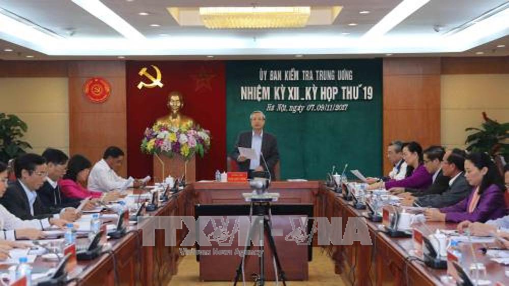 Ủy ban Kiểm tra Trung ương thông báo kết quả kiểm tra đối với Ban Thường vụ Tỉnh ủy Vĩnh Phúc