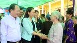 Chủ tịch Hội Liên hiệp phụ nữ Việt Nam Nguyễn Thị Thu Hà dự ngày hội đoàn kết toàn dân tại Yên Dũng
