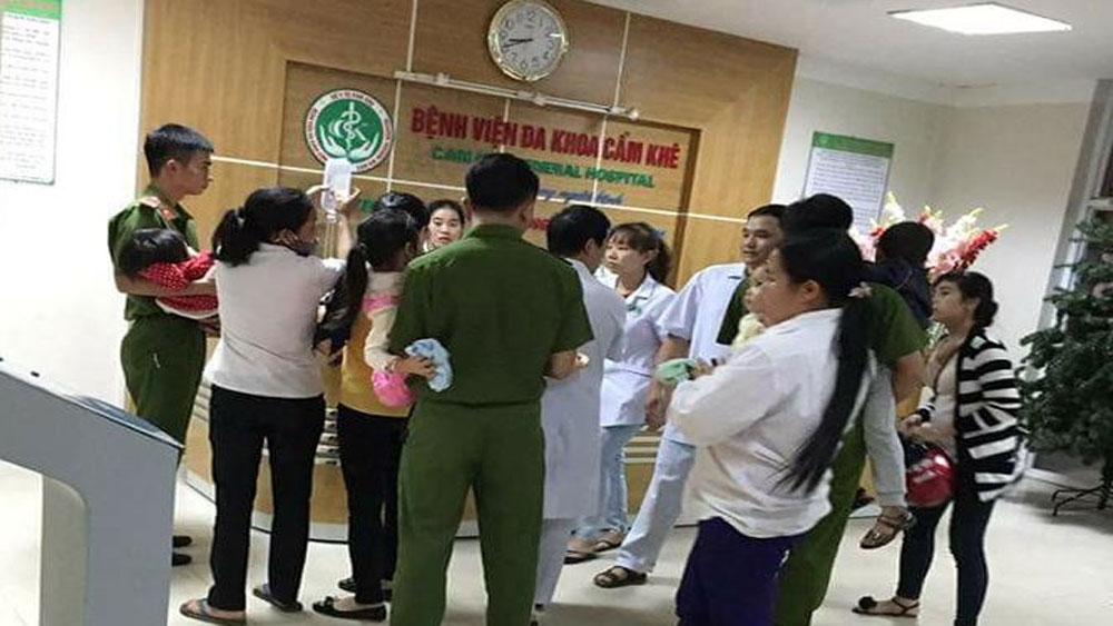 Gần 100 trẻ nhỏ nghi ngộ độc phải nhập viện