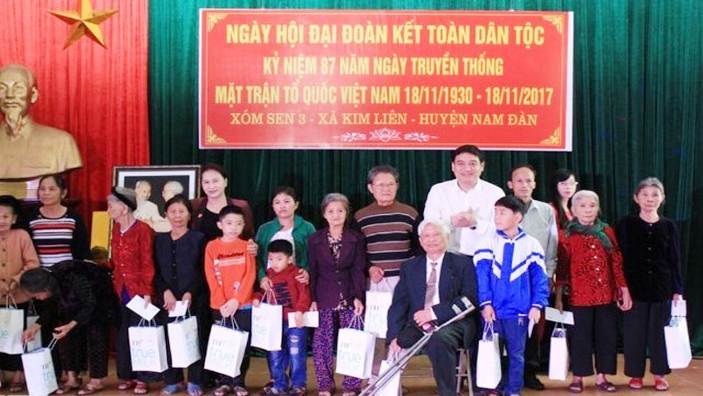 NA Chairwoman attends national great unity festival in Nghe An