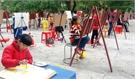 Hội thi vẽ tranh 'Thiếu nhi Yên Thế với văn hóa học đường'